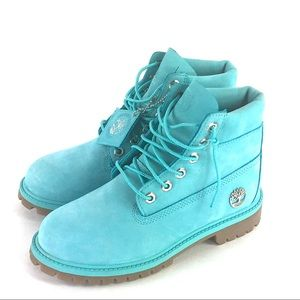 Timberland 6 Premium Teal Waterproof Boots (Youth)